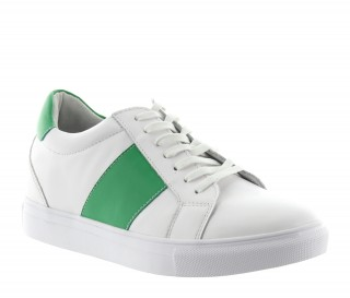 Baskets rehaussantes Baiardo blanc/vert +5.5cm