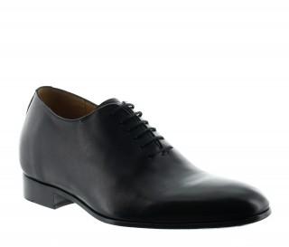 chaussures richelieu compensées Homme  - Noir - Cuir de veau pleine fleur - +6 CM - Murano  - Mario Bertulli