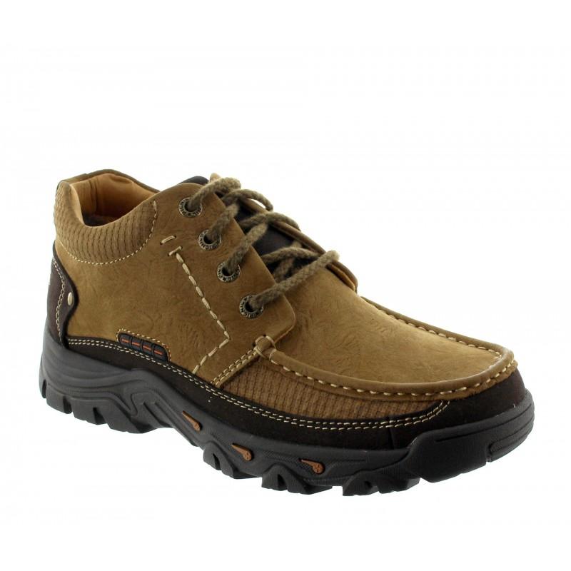 chaussures derby compensées Homme - Marron - Nubuck - +5,5 CM - Volpedo - Mario Bertulli