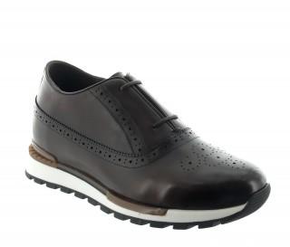 Sneakers rehaussantes Agerola marron +6.5cm