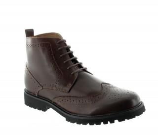 Boots rehaussantes Abetone marron +7cm