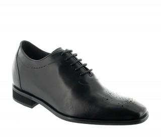 chaussures richelieu compensées Homme  - Noir - Cuir - +7,5 CM - Varallo  - Mario Bertulli