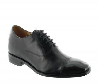 chaussures derby compensées Homme  - Noir - Cuir - +7,5 CM - Pombia  - Mario Bertulli