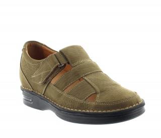 Sandales rehaussantes Cosenza kaki +7cm