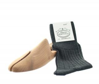Chaussettes sans compression en laine anthracite