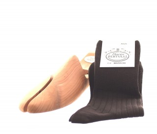 Chaussettes sans compression en laine marron