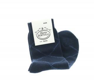 Chaussettes laine et cachemire bleu
