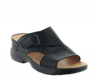 sandales compensées Homme - Noir - Cuir - +6 CM - Sossano - Mario Bertulli