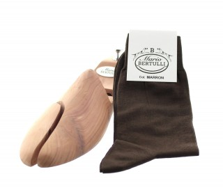 Chaussettes fil d'Ecosse marron