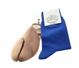 Chaussettes fil d'Ecosse bleu