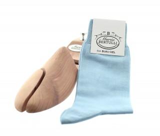 Chaussettes fil d'Ecosse bleu ciel