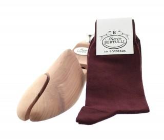 Chaussettes fil d'Ecosse bordeaux