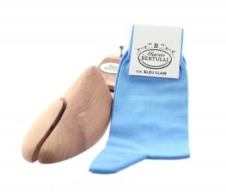 Chaussettes fil d'Ecosse bleu clair