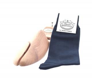 Chaussettes fil d'Ecosse bleu fonce