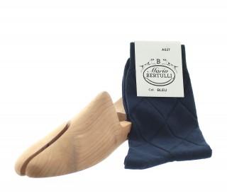 Chaussettes fantaisie en coton bleu
