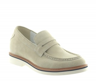 Mocassins rehaussants Stresa sable +7cm