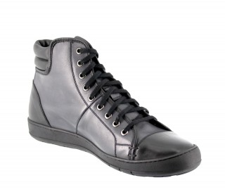 Sneakers rehaussantes Toronto noir/gris +6cm
