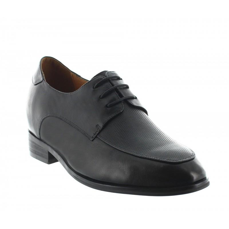 chaussures derby compensées Homme - Noir - Cuir - +8 CM - Urbino - Mario Bertulli