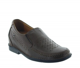 Mocassins rehaussants Ragusa marron +7cm