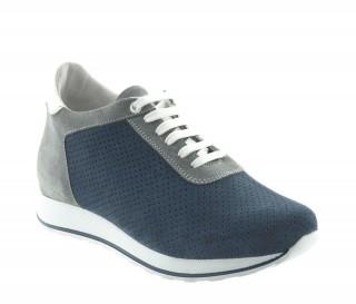 Sneakers rehaussantes Gabbro bleu +7cm