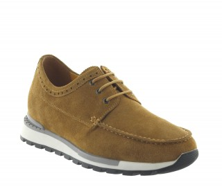 Sneakers rehaussantes Vernio camel +7cm