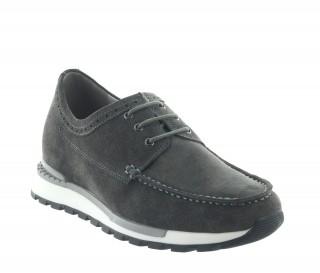 Sneakers rehaussantes Vernio gris fonce +7cm