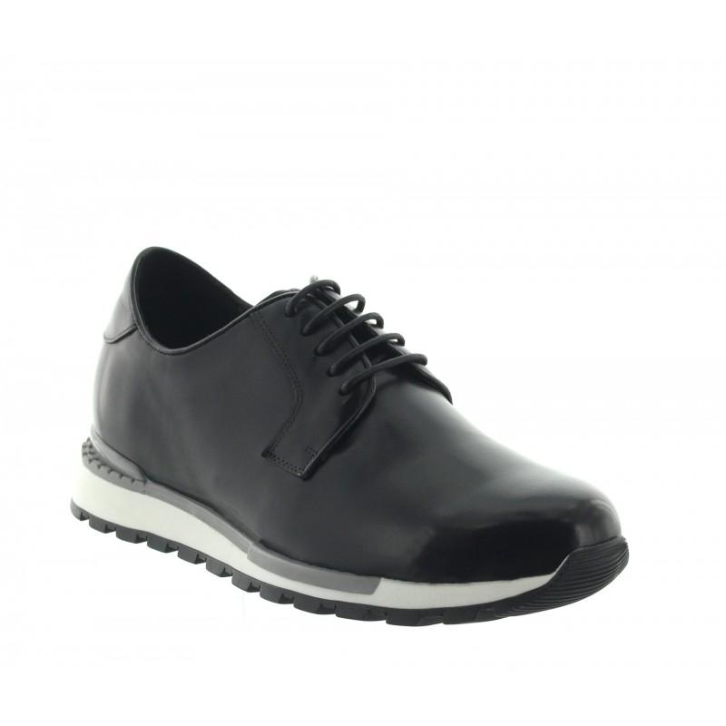 sneaker a talon compensé Homme - Noir - Cuir - +7 CM - Legri - Mario Bertulli
