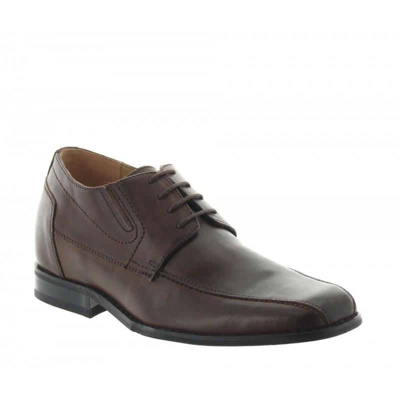 chaussures derby compensées Homme - Marron - Cuir - +6 CM - Sepino - Mario Bertulli