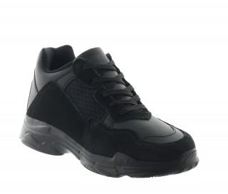 Baskets rehaussantes Sestino noir +7cm
