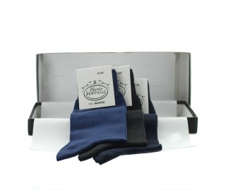 Coffret 3 paires de chaussettes - bleu marine/anthracite/bleu