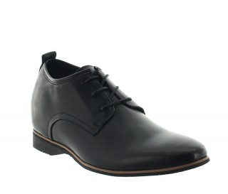 chaussures derby compensées Homme - Noir - Cuir - +5,5 CM - Spotorno - Mario Bertulli