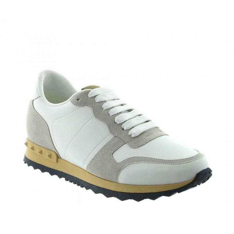 sneaker con tacco rialzato Uomo - Bianco - Nubuck / Pelle - +7 CM - Menaio - Mario Bertulli