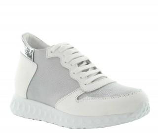 Sneakers rialzanti donna Milla - Bianco +7cm