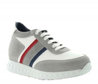 Sneakers rialzanti donna Eva - Bianco +7cm