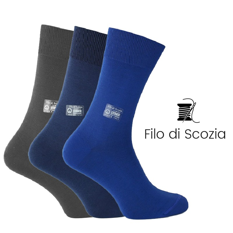 Coffret di 3 paia di calze - calze Uomo coffret uomo - Mario Bertulli specialista della scarpa rialzante
