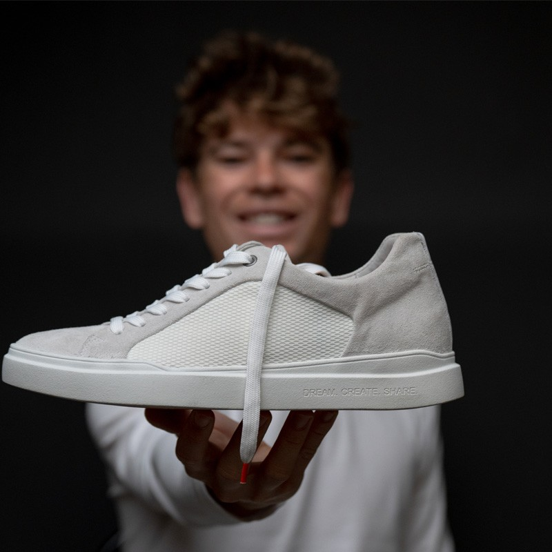 Sneakers rialzanti Seb Delanney DCS bianco/grigio +6cm