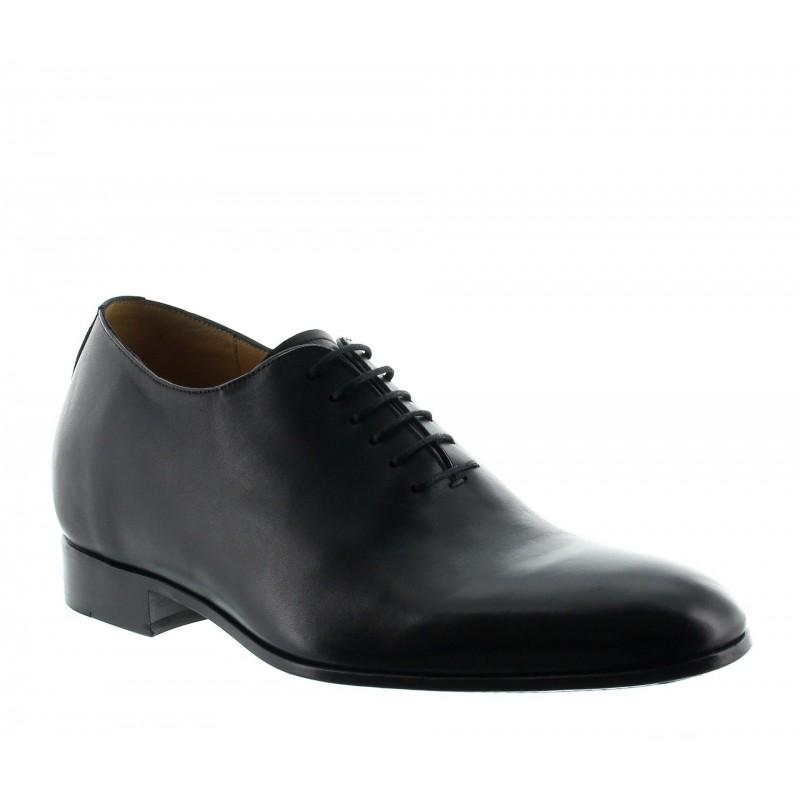 scarpe richelieu zeppa Uomo - Nero - Pelle di vitello pieno fiore - +6 CM - Murano - Mario Bertulli
