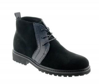 Comprare questo modello boots Cipirello nero in pelle che aumenta l'altezza degli uomini di 7cm - Scarpa vista dall'esterno