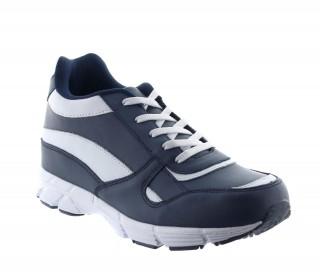 Scarpa sportiva mileto blu/bianco +6cm