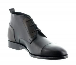Stivali Fabio goodyear nero/marrone +6cm