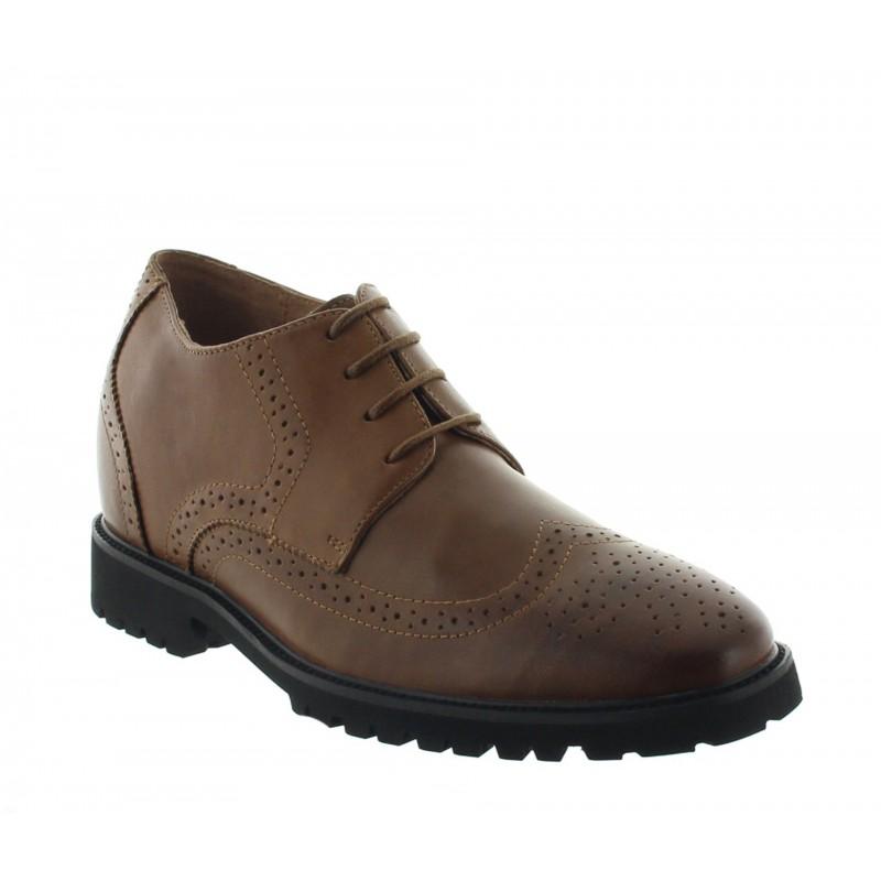 scarpe derby zeppa Uomo - Marrone - Pelle - +7 CM - Seveso - Mario Bertulli