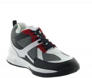 Włoskie buty podwyższające Mężczyzna  - Biały - Nubuk w połączeniu z siatką - +7 CM - Lesina  - Mario Bertulli