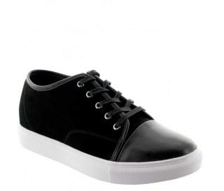 Camogli Buty Podwyższające Czarne +5cm