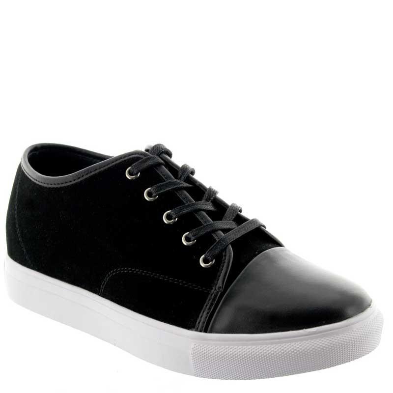 Włoskie buty podwyższające Mężczyzna - Czarny - Nubuk / Skóra - +5 CM - Camogli - Mario Bertulli