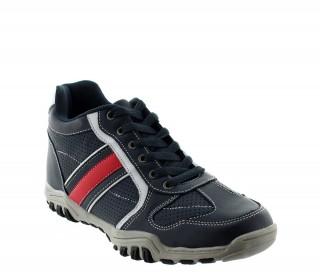 Crotone Sportowe Buty Podwyższające Niebieskie +6cm