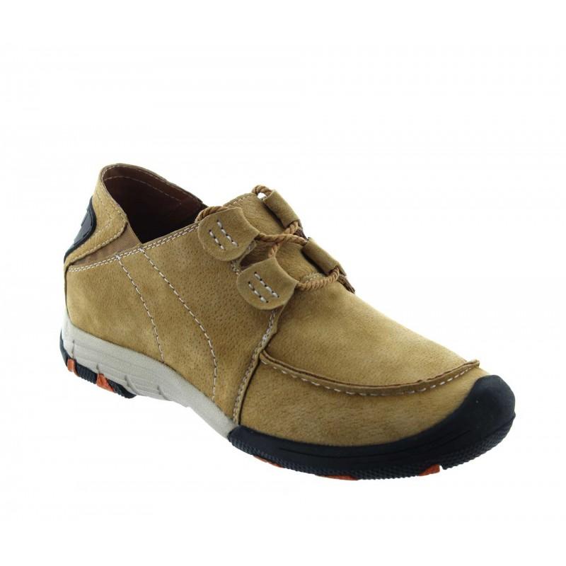 Włoskie buty podwyższające Mężczyzna  - Koniak - Nubuk - +5 CM - Courmayeur  - Mario Bertulli