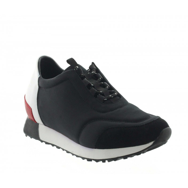 Włoskie buty podwyższające Mężczyzna - Czarny - Tkanina / nubuk / skóra - +7 CM - Desio - Mario Bertulli
