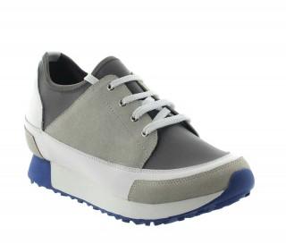 Sneakersy Ivrea beżowo-białe +7cm
