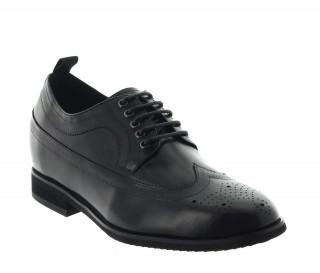 buty derby na koturnie Mężczyzna  - Czarny - Skóra - +7,5 CM - Gargano  - Mario Bertulli