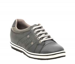 Alghero Męskie Buty Podwyższające Ciemnoszare +6cm